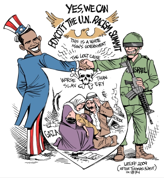 Obama_boycotts_racism_summit_by_Latuff2